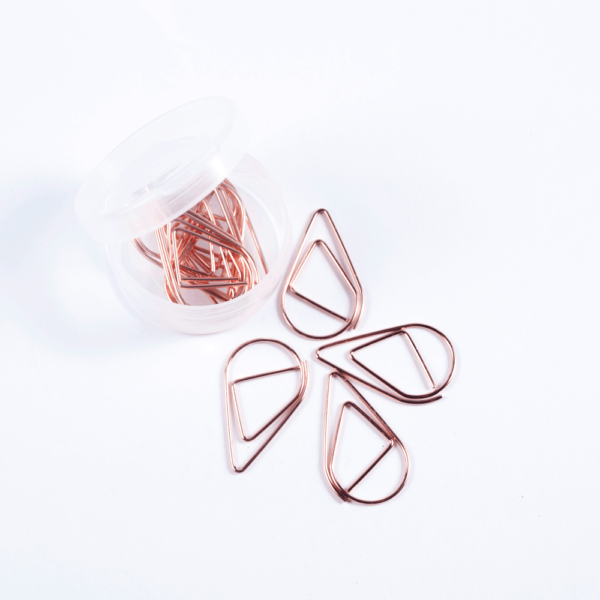 Raindrop clip - Copper color, pack of 12