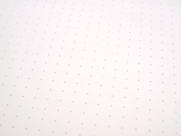 Dot-grid notebook in detail