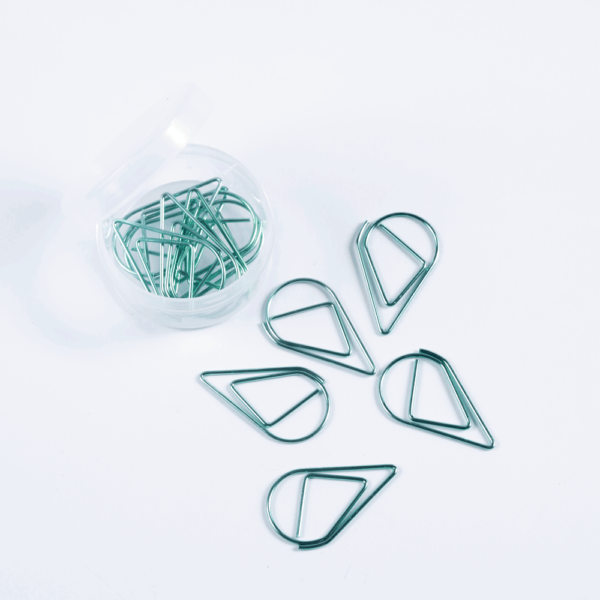 Raindrop clip - Mint color, pack of 12 clips