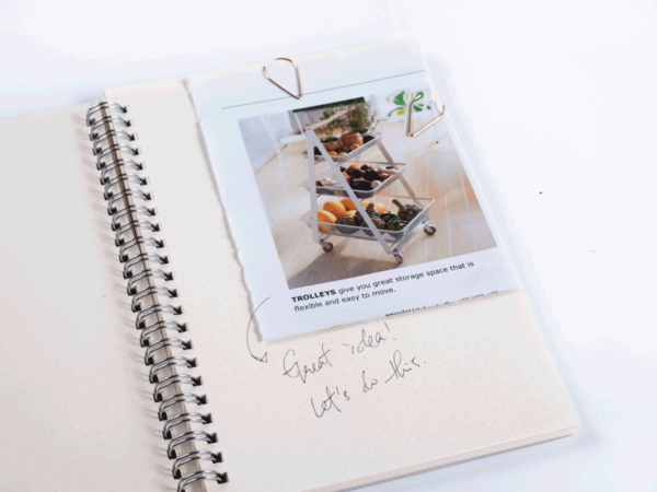 Clip notes and pictures in your scrapbook or notebook