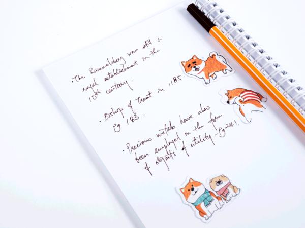 Shibanban, individual sticker on notebook
