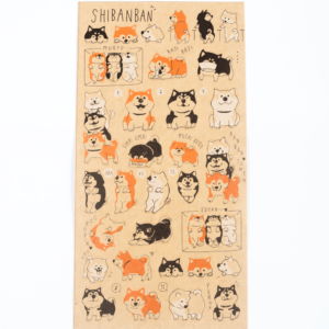 Shibanban stickers in recycled paper