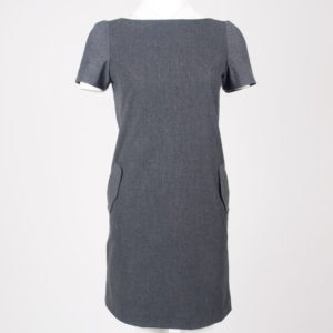 August pocket dress - Charcoal, front view