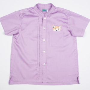 Woof Pup Short Sleeve shirt – Purple front view