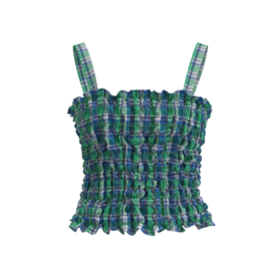 Ruched Spaghetti top_front