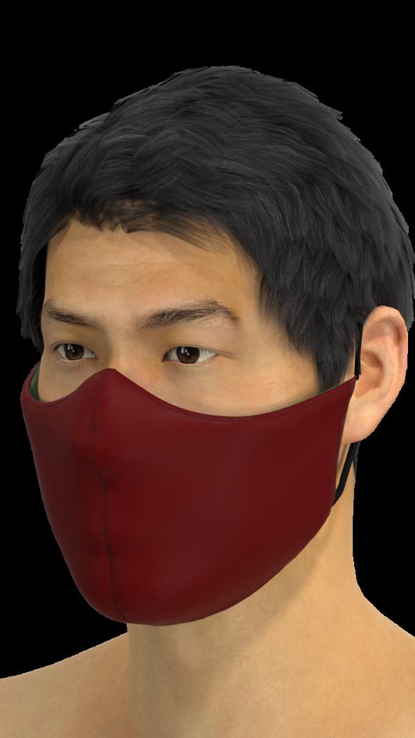 Maroon mask